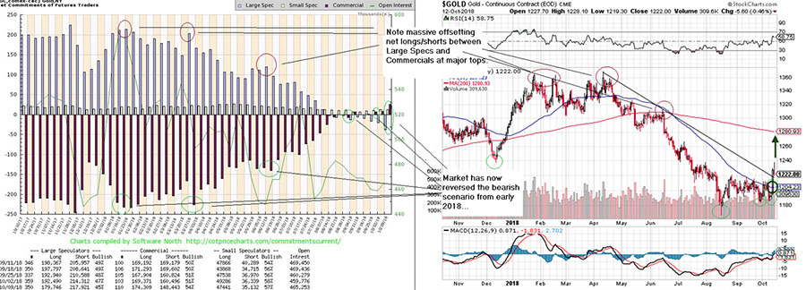 COT and Gold charts