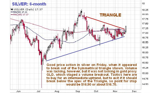 Technical Analyst Sees Weakness in Silver
