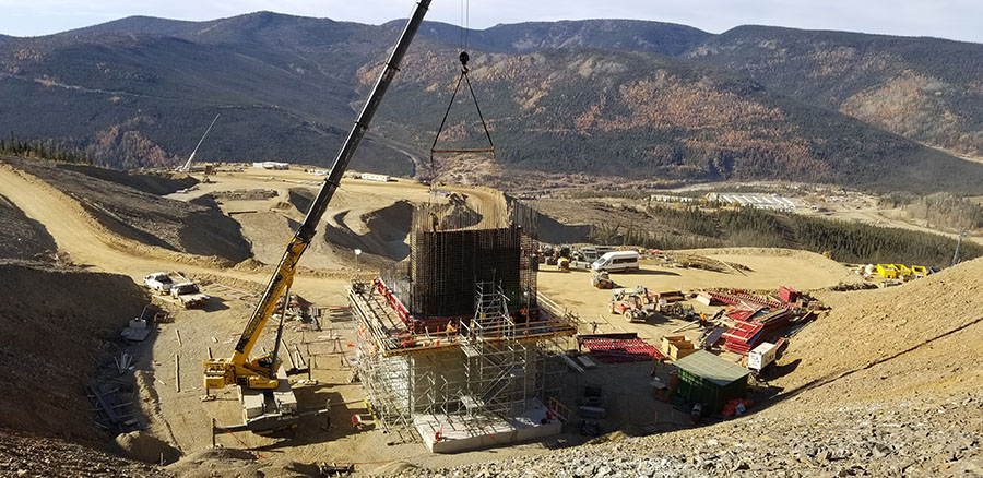 Victoria Gold Primary Crusher Under Construction