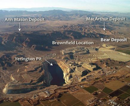 Yerington Pit and Surrounding Copper Deposits