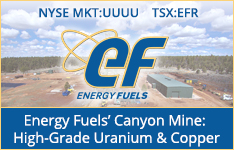 Energy Fuels Canyon Mine:  High Grade Uranium & Copper