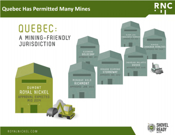 mining friendly Quebec