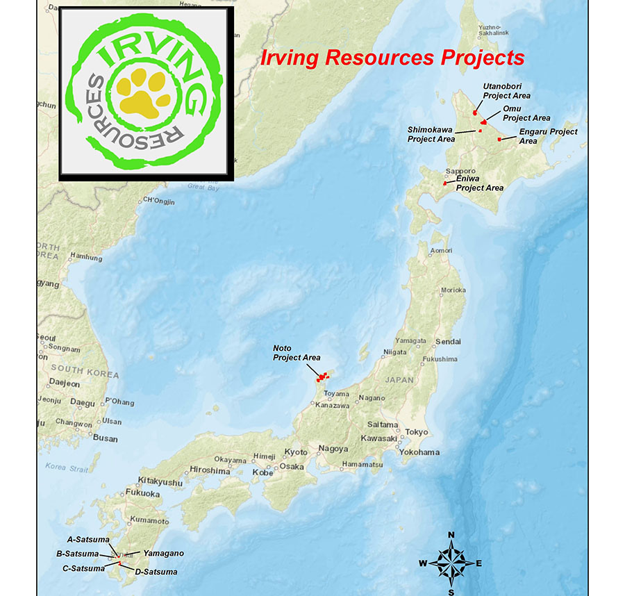 Gold Explorer Submits License Applications for Large Land Position in Japan